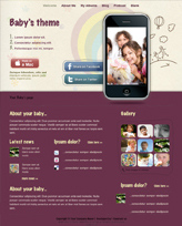 iWeb Template: Baby Theme