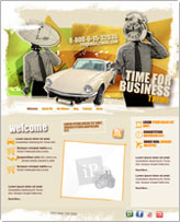 iWeb Template: Business Time Theme