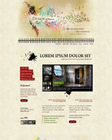 iWeb Template: Dreamy Theme