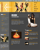 iWeb Template: Entertainment Theme