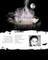 iWeb Template: Halloween Theme 3