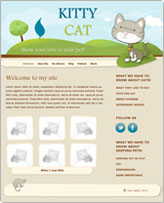 iWeb Template: Kitty Cat