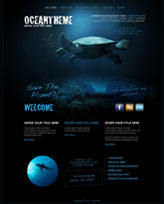 iWeb Template: Ocean Theme