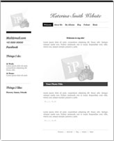 iWeb Template: Simple Blog Theme