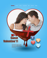 iWeb Template: Valentines Day 1