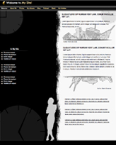 iWeb Template: Black and White