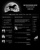 iWeb Template: Black Stallion Theme