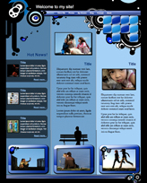 iWeb Template: Blue Black Theme