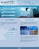 iWeb Template: Blue Style Theme