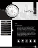 iWeb Template: Clock Theme