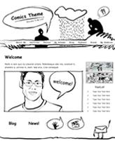 iWeb Template: Comics Theme