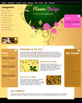 iWeb Template: Flowered Theme