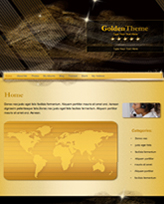 iWeb Template: Golden Theme