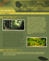iWeb Template: Greenery Theme