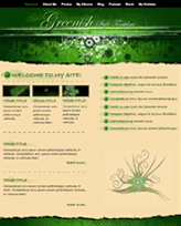 iWeb Template: Greenish Theme
