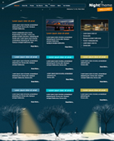 iWeb Template: Night Theme