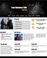 iWeb Template: Night Club Theme