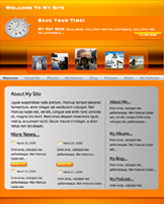 iWeb Template: Orange Light