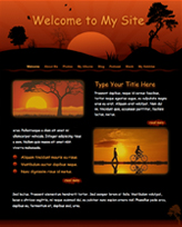 iWeb Template: Red Sunset Theme