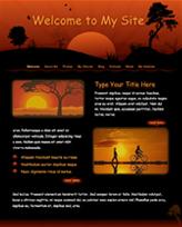 iWeb Template: Red Sunset Theme