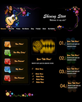 iWeb Template: Shining Star Theme