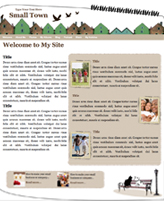 iWeb Template: Town Theme