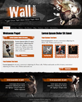 iWeb Template: The Wall Theme