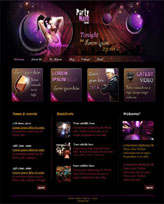 iWeb Template: Party Night