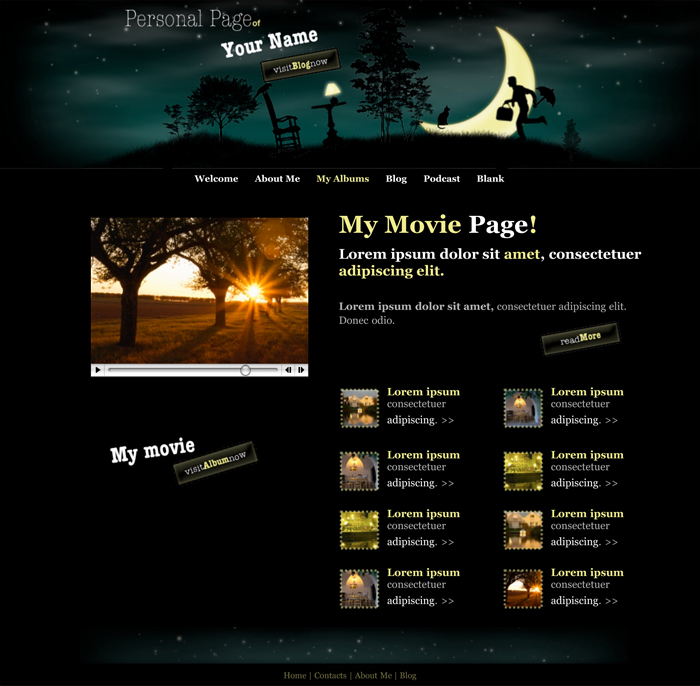 iweb personal page theme in iweb professional blog category