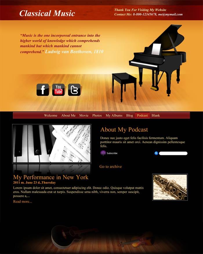 iweb classical music in iweb music category