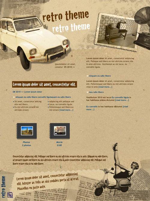 Buy Now Back. iWeb Retro Theme in iWeb Fashion Category