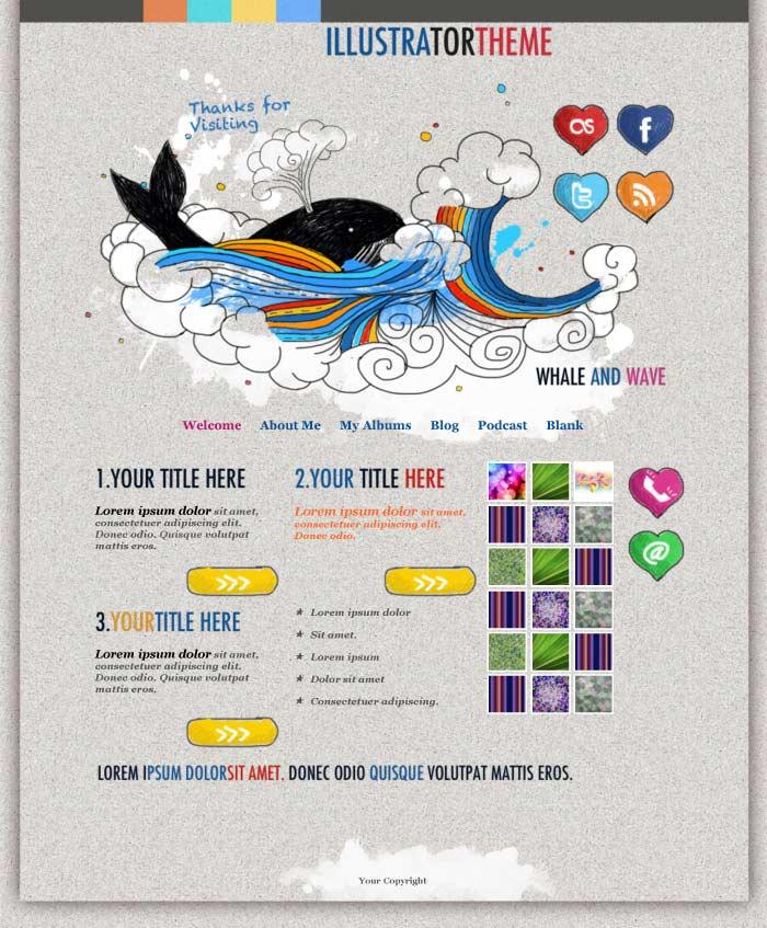 iweb illustrator in iweb education category