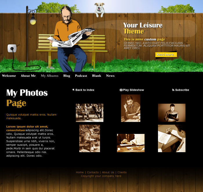 iweb your leisure theme in iweb professional blog category